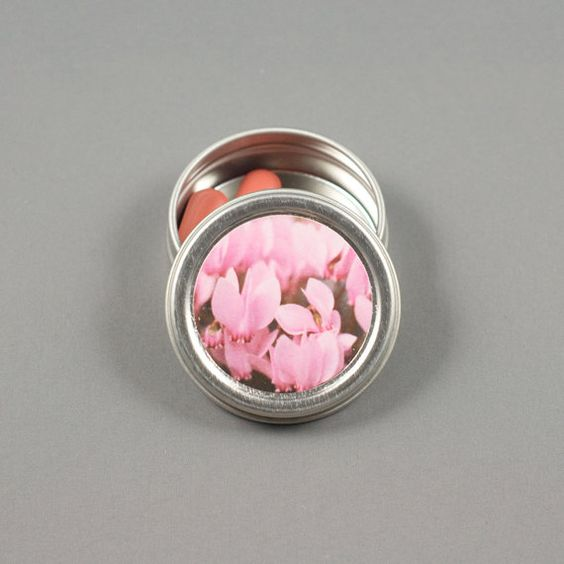 Tickle Me Pink Mint Tin Mint Case Pill Tin by whenshuttersclick, $4.00