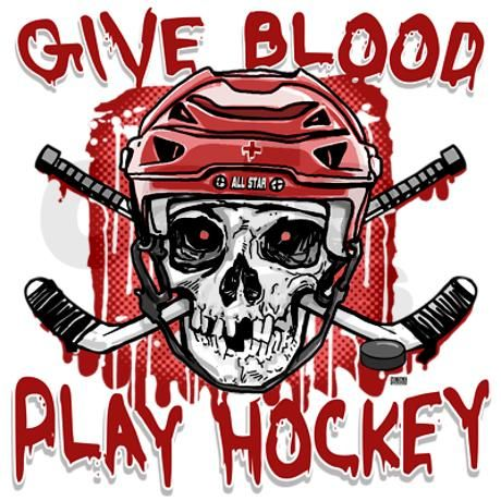 Give Blood Hockey Red Throw Blanket on CafePress.com
