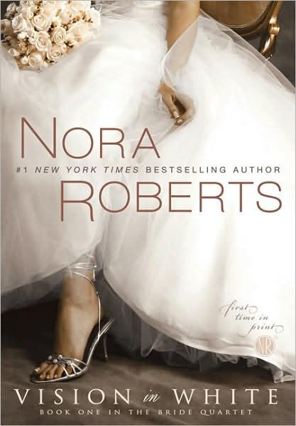 """""""Vision in White"""" by Nora Roberts. The first book in a four-part series. Read them all, soooo good!!"""