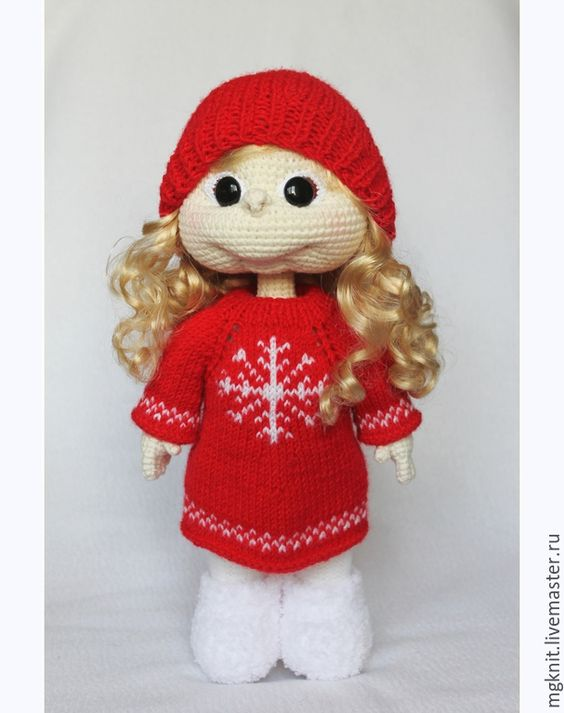 """Купить Кукла вязаная """"Подружка"""". Игровая. На заказ - кукла, куколка, кукла ручной работы"""