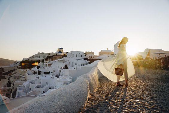 Into the sunset – Sofia Sanchez de Betak plays with the light wearing our flou #SS15 dress in Mustique, June 2015. #chloeGIRLS
