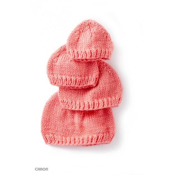 Free Pattern Caron Wee Knit Cap Hobbycraft Baby Hats Knitting Baby Hat Knitting Pattern Baby Knitting Patterns