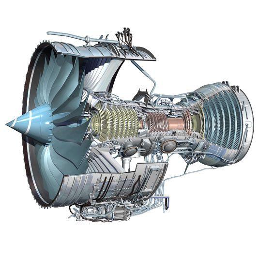 Cutaway diagram of Trent 1000 jet engine Science Museum – Intricate Engine Diagram