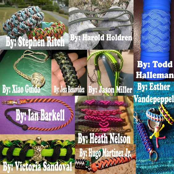 #MondayMedley!!  Make sure to spread this Medley around in order to share the work of our talented paracord fanbase. This week's contributors are: Esther Vandepeppel, Harold Holdren, Heath Nelson, Hugo Martinez Jr., Ian Barkell, Jason Miller, Jason Miller, Jess Benavidez, Stephen Ritch, Todd Halleman, Victoria Sandoval, and Xiao Guido.  #paracord   #mondaymedley   #designs   #crafts   #crafting   #tying   #knotting   #weaving   #diy   #survival   #cord   #bracelet   #making