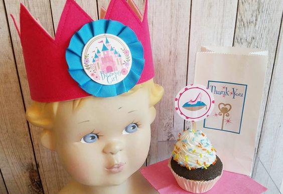 Princess birthday,Cinderella Party, Princess crown,Fairy tale cupcake picks by…