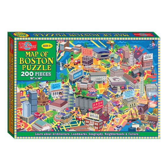 TS Shure 200 Piece Map of Boston Jigsaw Puzzle