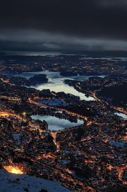 Bergen from Mt. Ulriken, Norway   Photographer: Arne Halvorsen