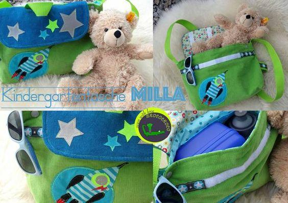 Kindergarten-Tasche -Milla- Nähanleitung und Schnittmuster von shesmile