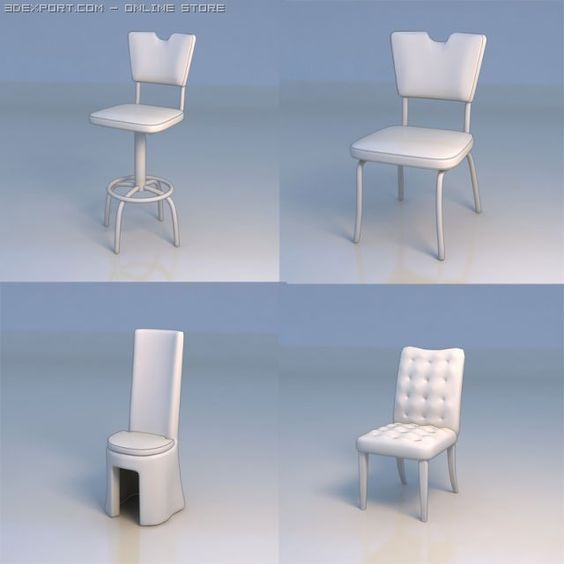 3D Model Chair couch bar stool c4d, obj, 3ds, fbx, ma, lwo 17133