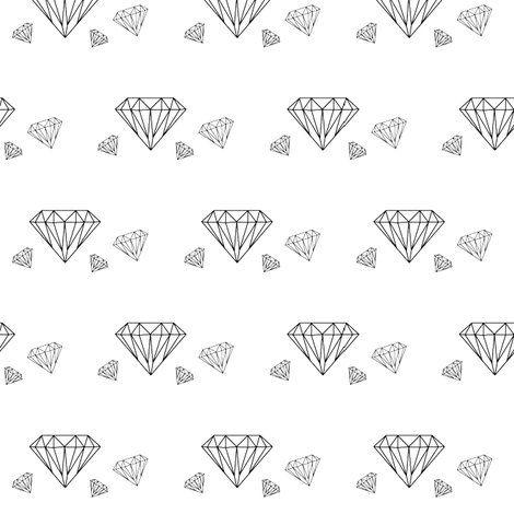 Rdiamond2: Fabric Ss15, Wallpaper Spoonflower, Homewares Ideas, Forever Black, White Fabrics, Designs Sketch Ideas, Craft Ideas