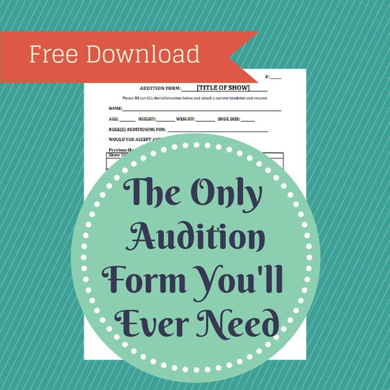 free audition form template yay theater templates pinterest theater the o 39 jays and actors. Black Bedroom Furniture Sets. Home Design Ideas