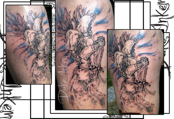 diablo 3 tattoo freehand design and drawn directly onto the skin inked colored by mikey b. Black Bedroom Furniture Sets. Home Design Ideas