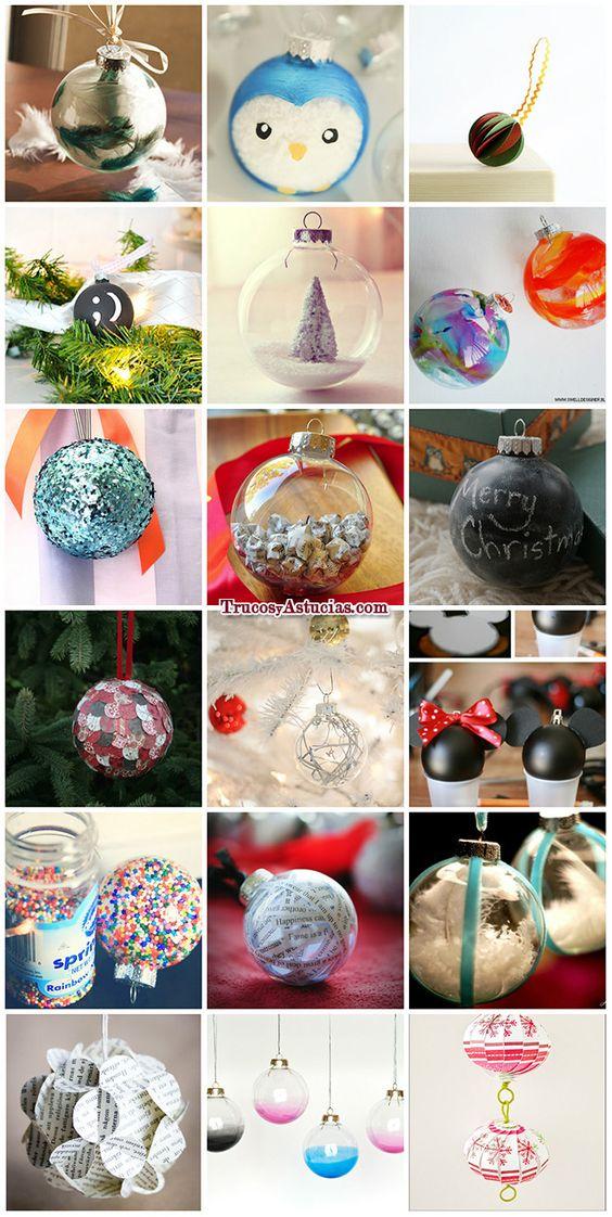 136 manualidades y adornos para navidad manualidades de - Manualidades con bolas de navidad ...