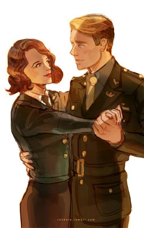 Captain America (MCU) - Steve Rogers x Peggy Carter - Steggy