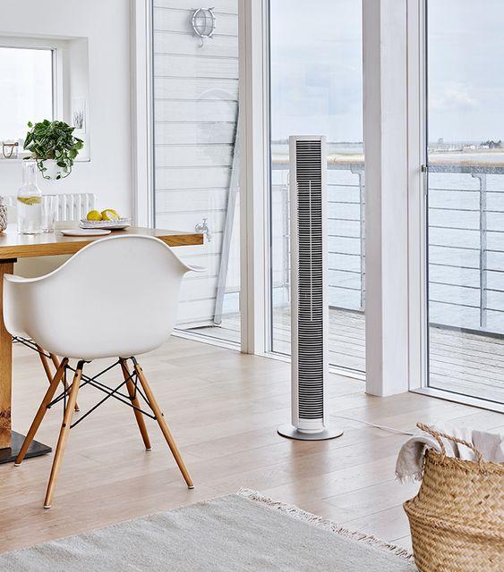 扇風機 タワー型 ファン インテリア コーディネート スリム シンプル おしゃれ