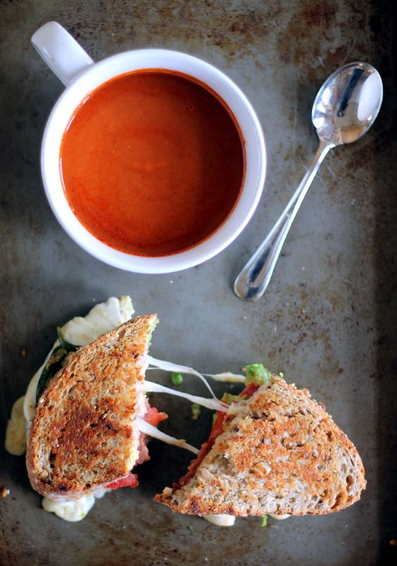 ... Bacon, Avocado, & Mozzarella Grilled Cheese + Artisan Tomato Soup