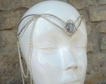 Elfischer Tiara Hochzeit Zubehör Elfischer Kopfband. von Ayalga