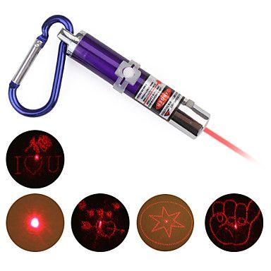 EUR € 2.54 - 4 em 1 laser vermelho levou chaveiro - roxo, Frete Grátis em Todos os Gadgets!