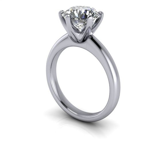 SUPERNOVA Colorless Moissanite Solitaire Engagement Ring 2 CTW