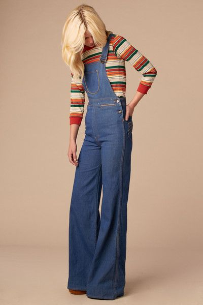 Summertime Blues 70's Overalls: