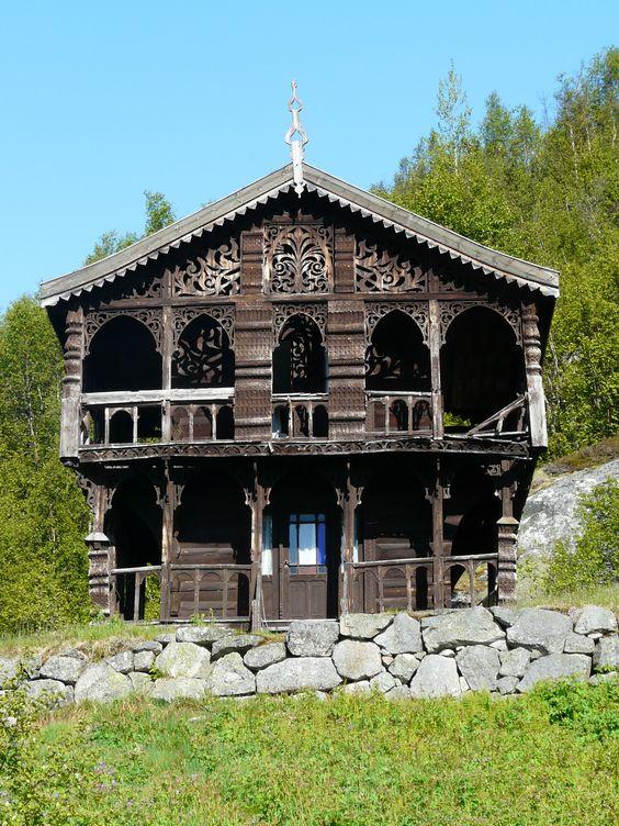 Gamle stabbur (1800 tallet) i Telemark