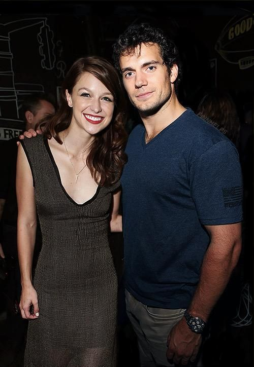 Henry Cavill With Melissa Benoist Now The Rumor Going Around Once Was That This Photo Was Actually A Fake But Since Mel Melissa Supergirl Supergirl Tv Superman