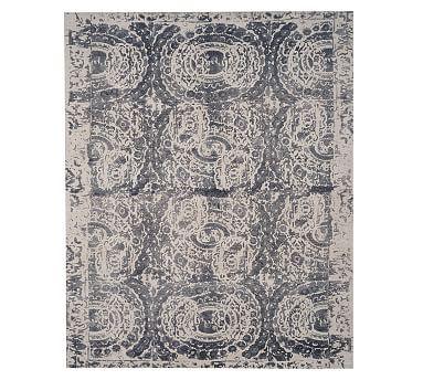 Bosworth Printed Wool Rug Gray Wool Rug Grey Rugs Printed Rugs