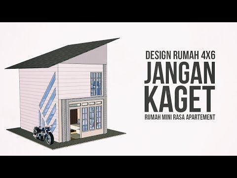 Denah Rumah 4x6 Desain Rumah Kecil Rasa Apartement Youtube Desain Rumah Kecil Denah Rumah Rumah Kecil Hotel room design 4x6 desain