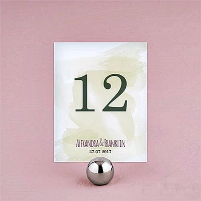 """Personalized """"Natural Charm"""" Table Number Cards (Set of 12)"""
