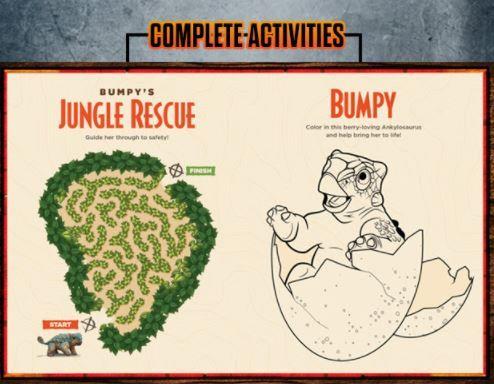 Fun At The Jurassic World Camp Cretaceous Website Jurassic Park World Jurassic World Book Activities