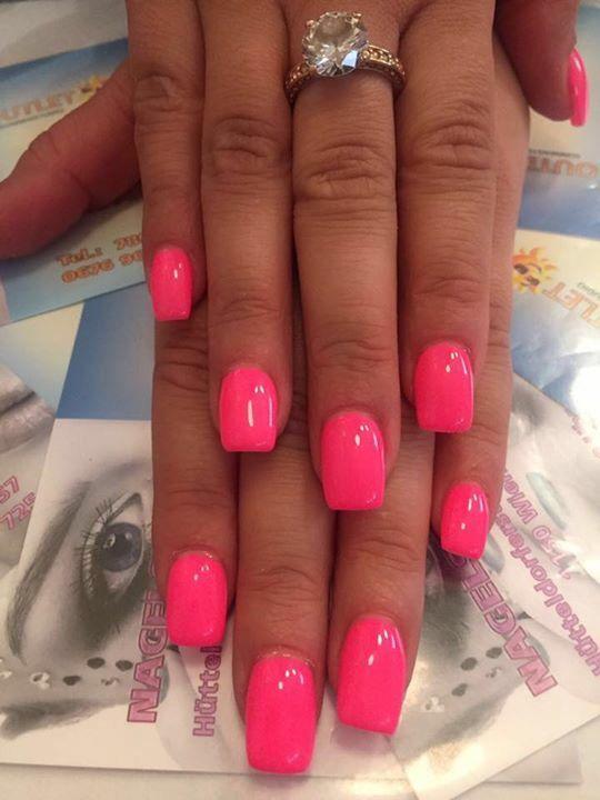 Summer Nails Pink Hotsummer Hot Pink Nails In 2020 Neon Pink