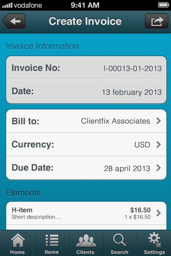 iPhone - Create Invoice 1ClickBusiness Pinterest Create invoice - create and invoice