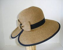 Snaffle Bit Toyo Paper Braid Sun Hat Equestrian Straw Hat Black Ribbon Trim - Italian Made Black Enamel Gold Bit Button