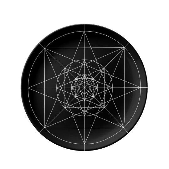Third Dimensional Sacred Geometry Porcelain Plate