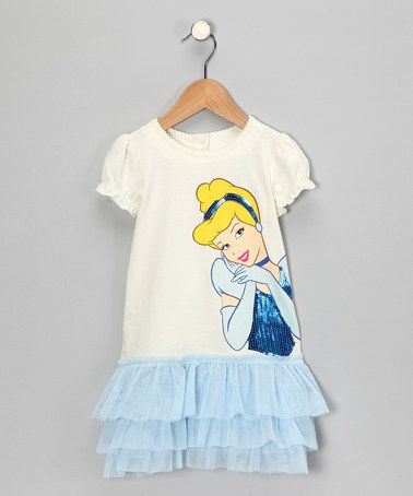 Blue Cinderella Ruffle Dress  from Disney on #zulily
