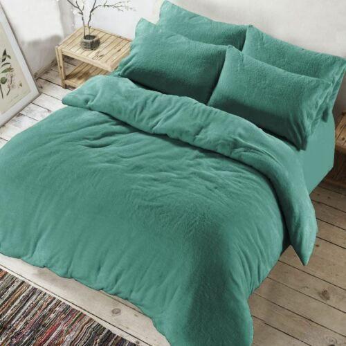Soft Teddy Bear Fur Sherpa Fleece Duvet Cover Bedding Set  Pillowcases Bed Size