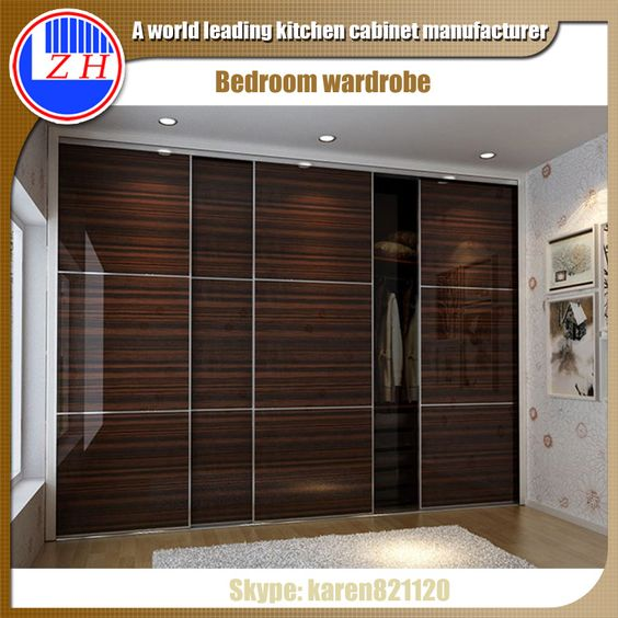 Wall closet systems clothes wardrobe cabinet design with for Bedroom woodwork designs india