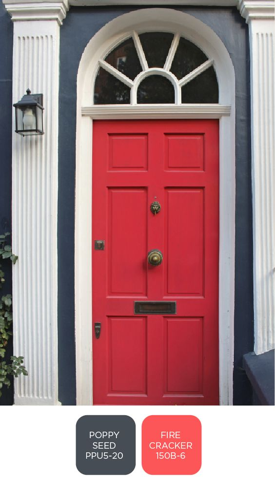Wall Colour Inspiration: A Pop Of Vibrant Red Paint Is A Classic For A Reason