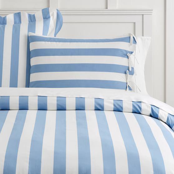 The Emily Meritt Pajama Stripe Duvet Cover Striped Duvet Covers Striped Duvet Turquoise Duvet Cover