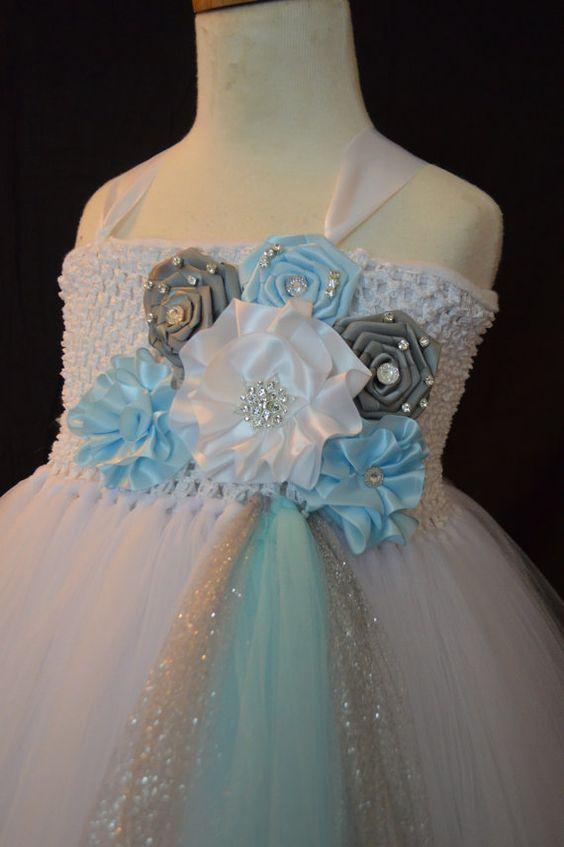 Winter Wonderland Tutu Dress by TutuSweetBoutiqueINC on Etsy, $55.00