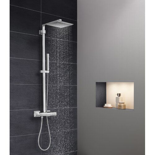 Best Seller Euphoria Thermostatic Complete Shower System Turbostat Technology Grohe Online Theeasyshopping In 2020 Shower Systems Grohe Shower Shower Panels
