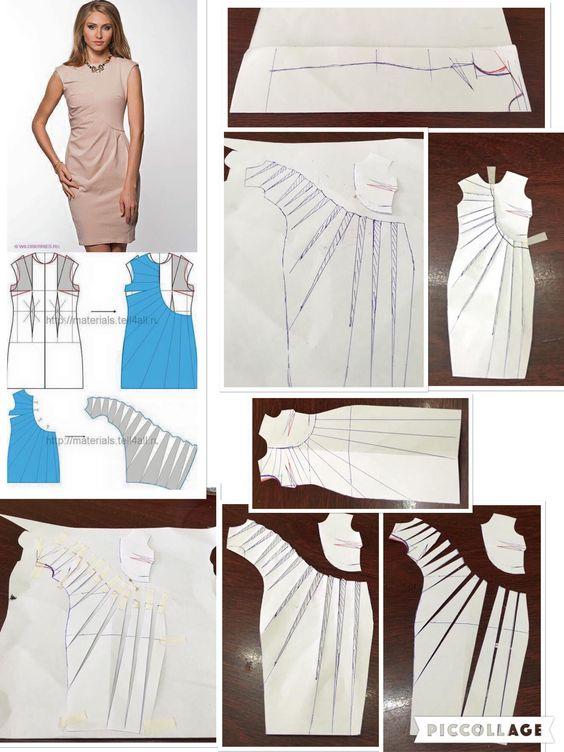 طراحی الگوی لباس مجلسی: