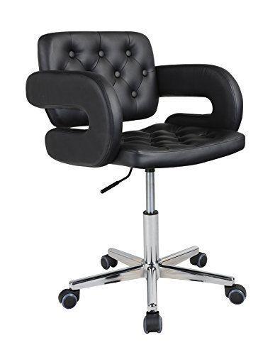 HNN Home - Qualität Designer Bürostuhl, schwenkbar, Leder, fürs Büro,  Schreibtischstuhl -