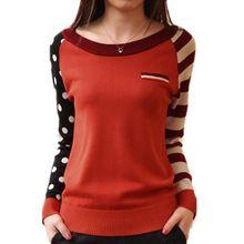 4 del Color del caramelo nuevo 2015 del o-cuello del otoño mujeres suéter de manga larga suéteres que hacen punto suéteres casuales pull femme sudaderas jumper(China (Mainland))