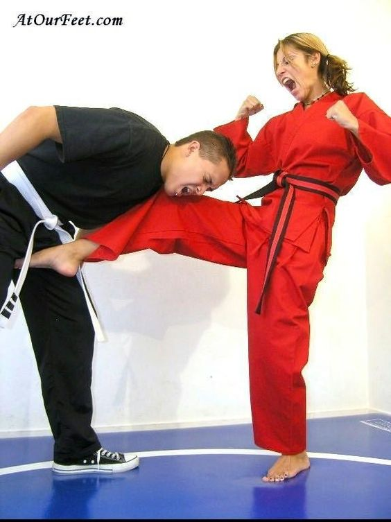 Coed testicles martial arts