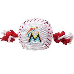 Miami Marlins Nylon Baseball Rope Dog Toy
