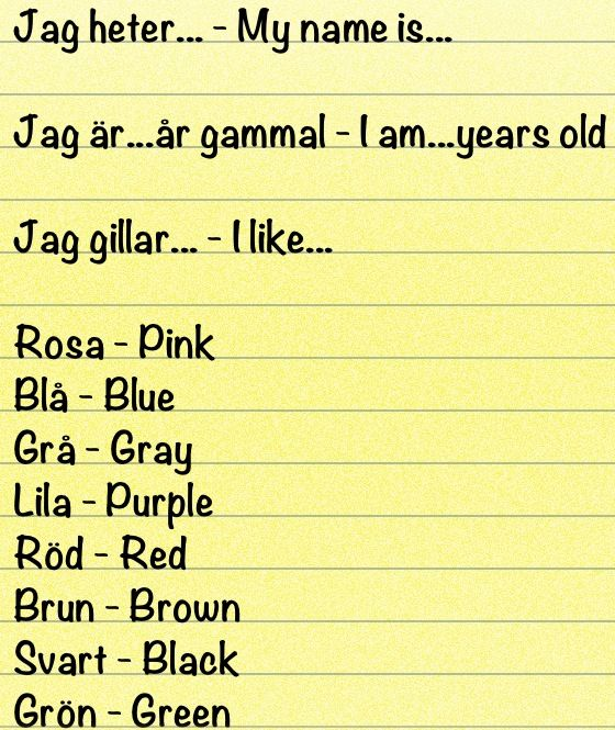 Learn swedish words with pictures