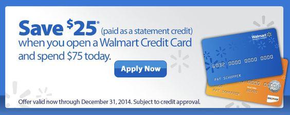 Walmart Credit Card 25 Statement Credit Bonus Credit Card
