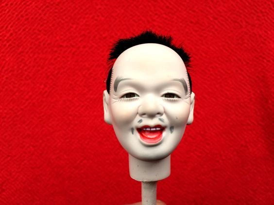 Japanese Doll Head Hina Matsuri Japanese Doll Festival Man's Head D10-33 by FromJapanWithLove on Etsy