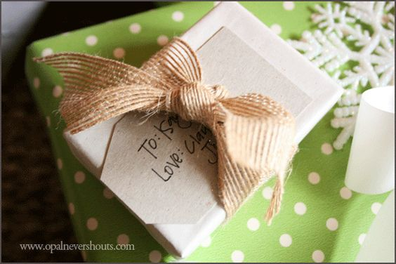 Wrapping a small gift